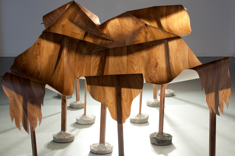 Under the Rug Polyvinyl laminate, concrete, pine 2010 120 x 180 x 280 cm