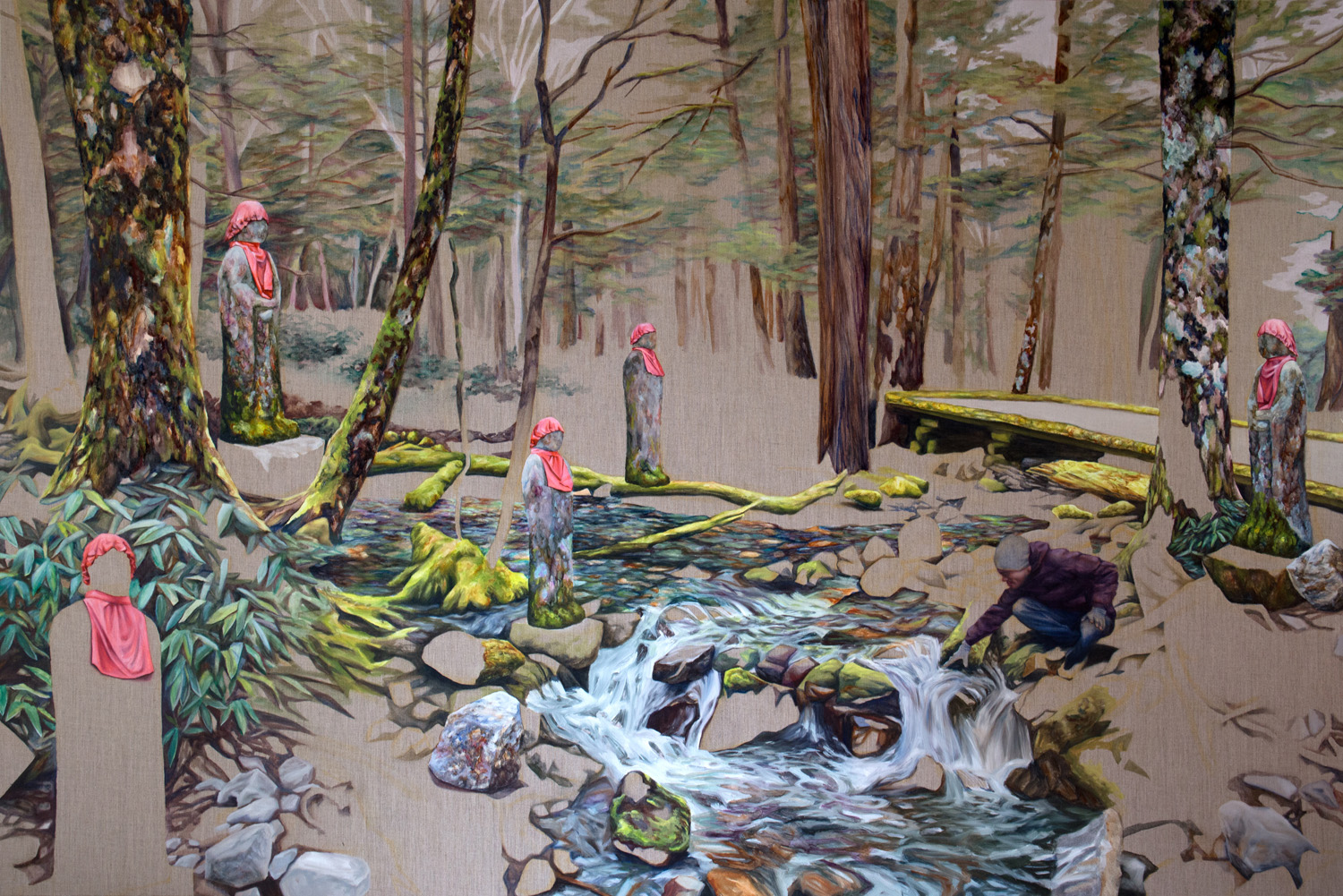 Kevin Chin, Unseen, 2014, oil on linen, 133 x 200 cm