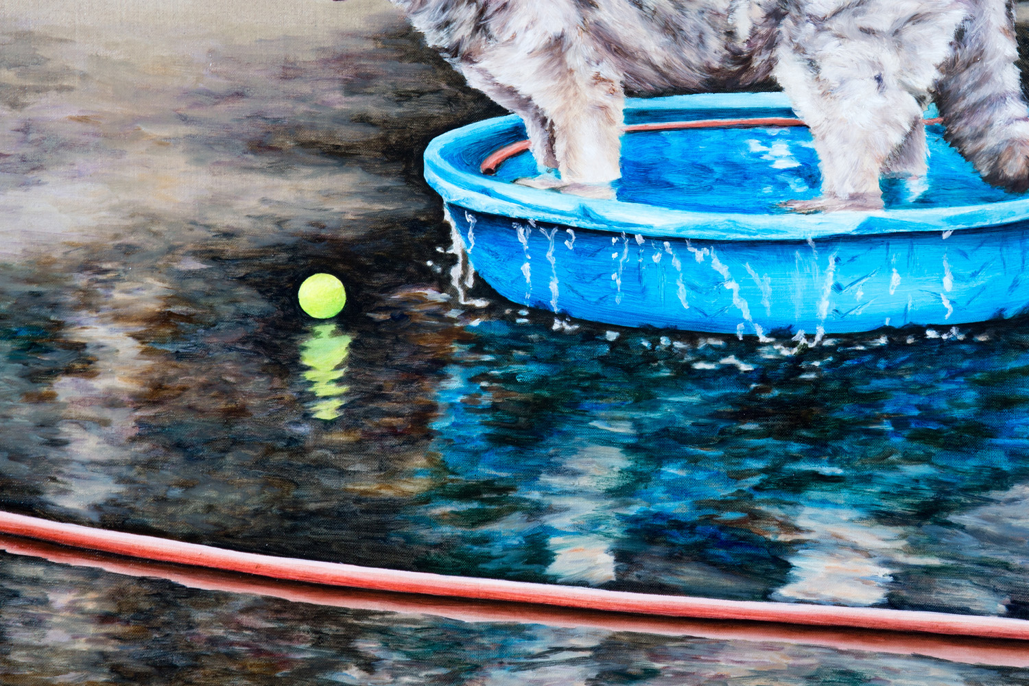 Kevin Chin, Tub Time (detail), 2016, oil on linen, 137 x 97 cm
