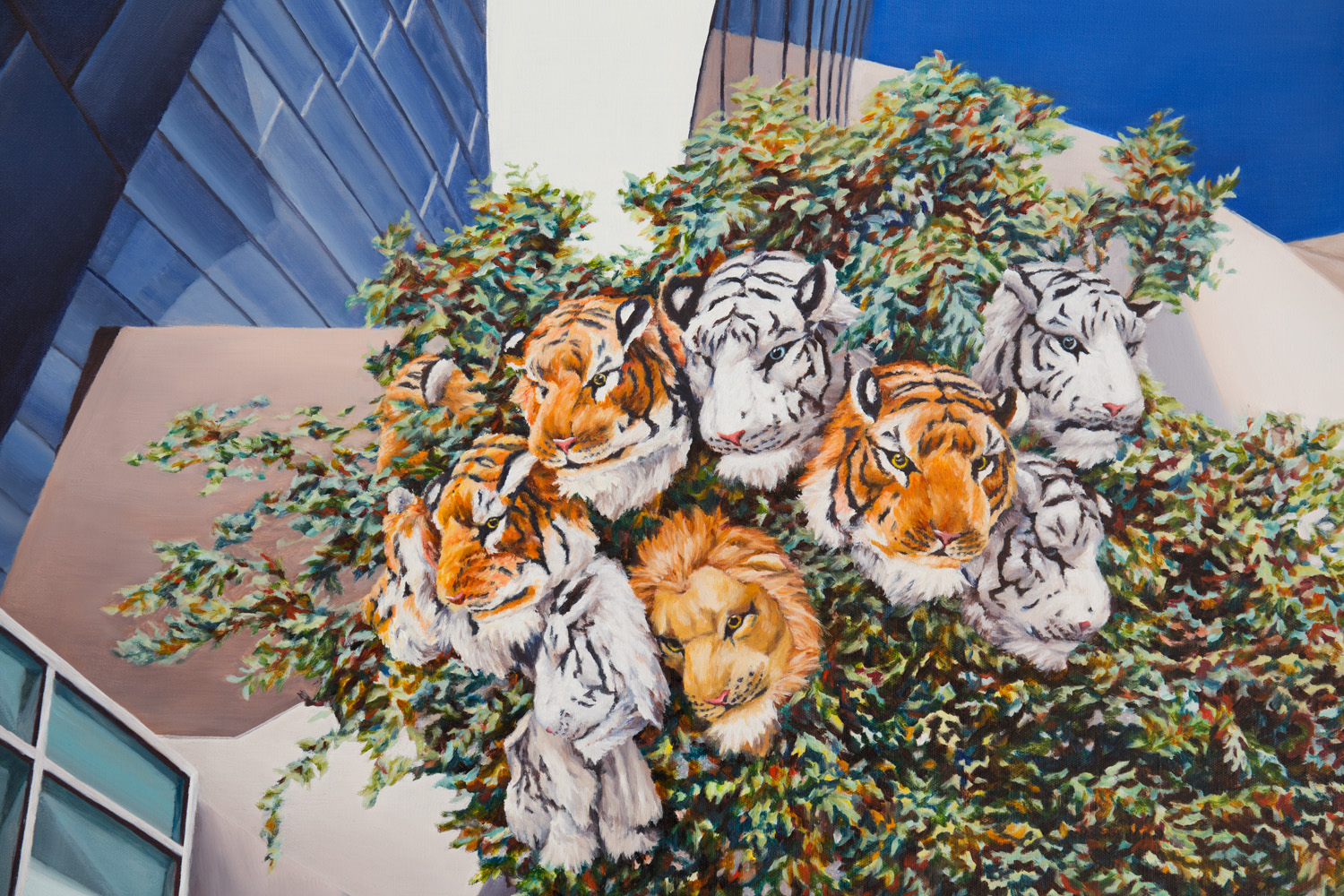 Kevin Chin, Jungle (detail), 2019, oil on Italian linen, 98 x 148 cm