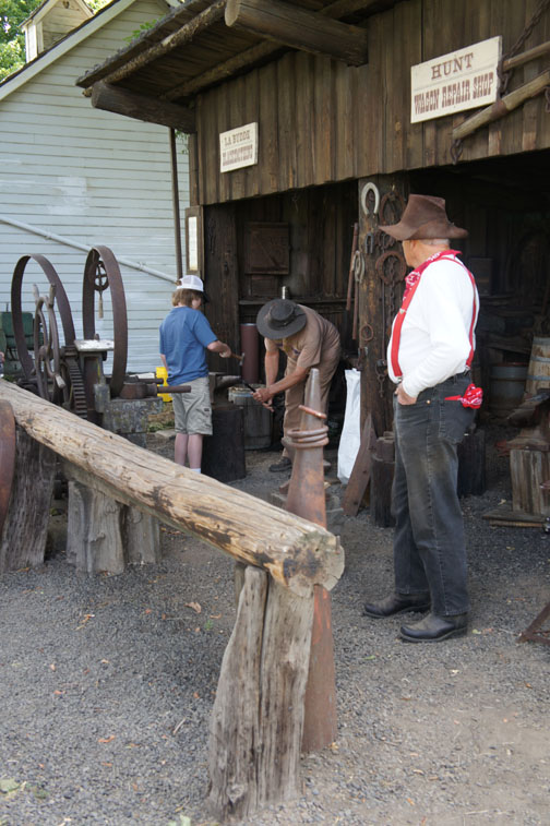 Work with a blacksmith.