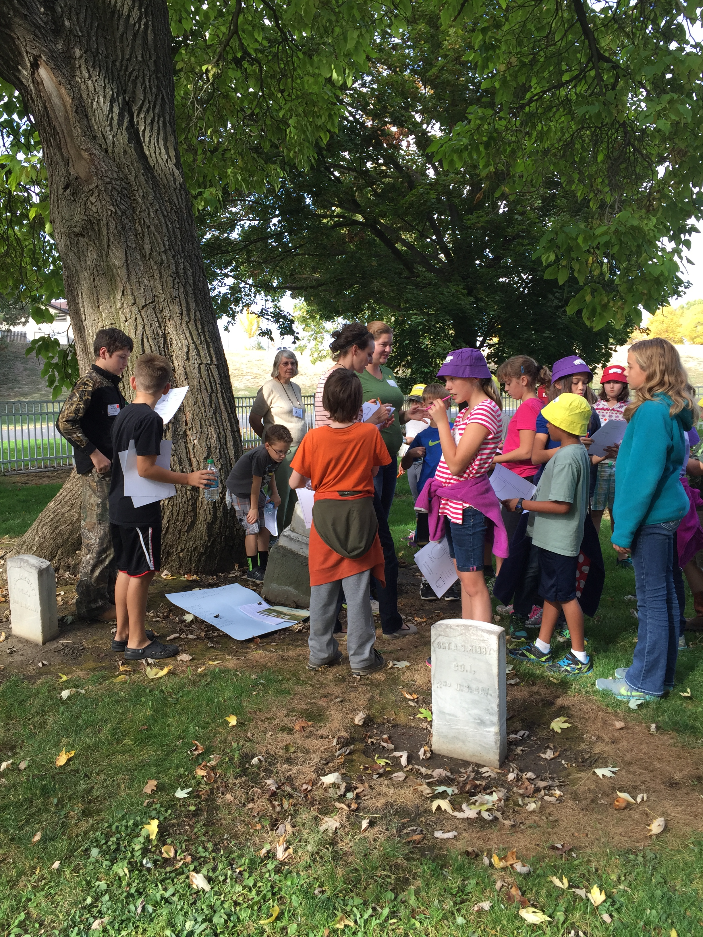 Starting fieldwork in the cemetery.