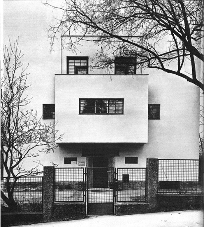 Alzado principal de la casa Moller - Adolf Loos
