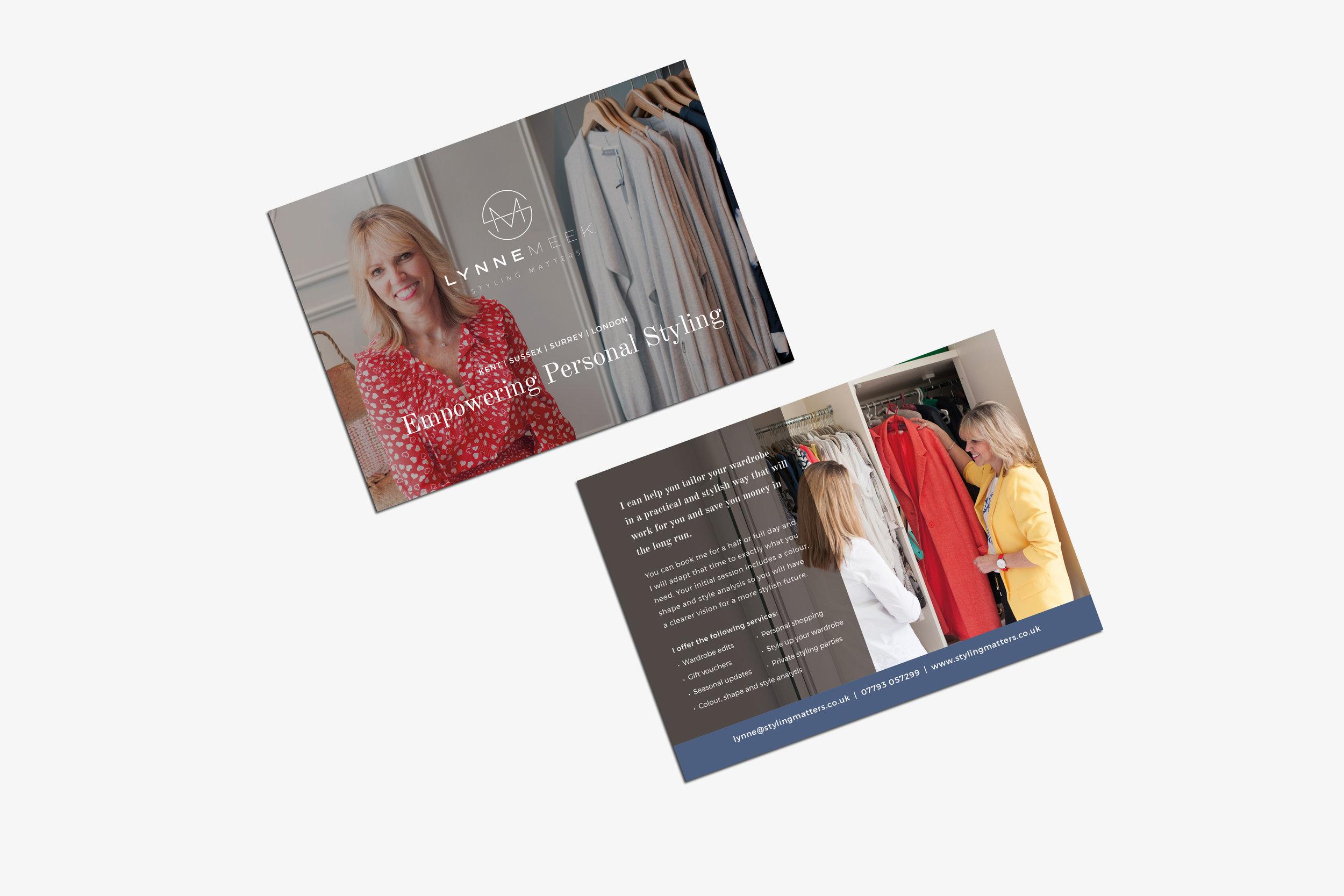 Styling Matters, Personal Stylist, Tunbridge Wells, Kent Postcard Design