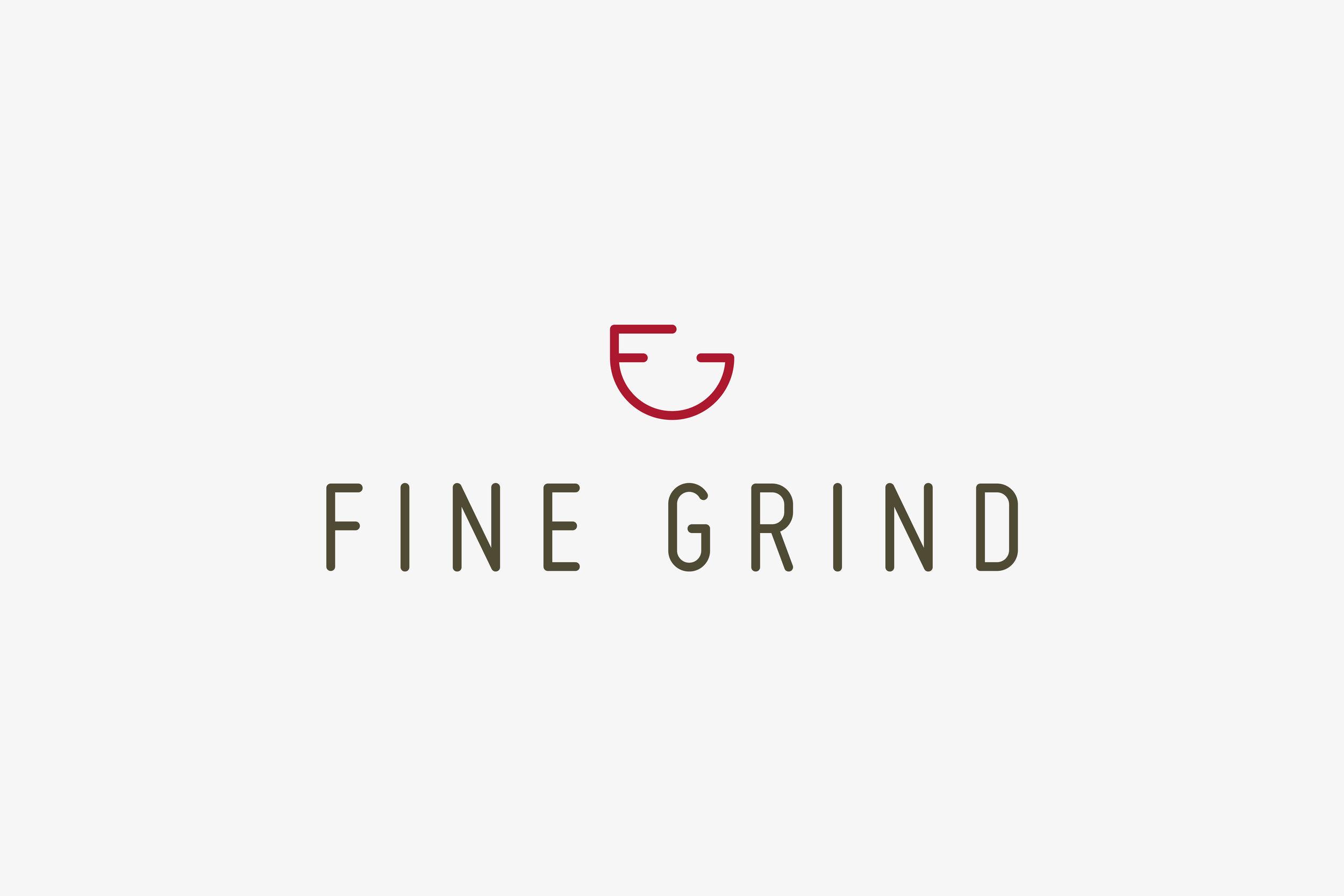 Graphic designer Kent Sussex London Fine Grind Logo Design