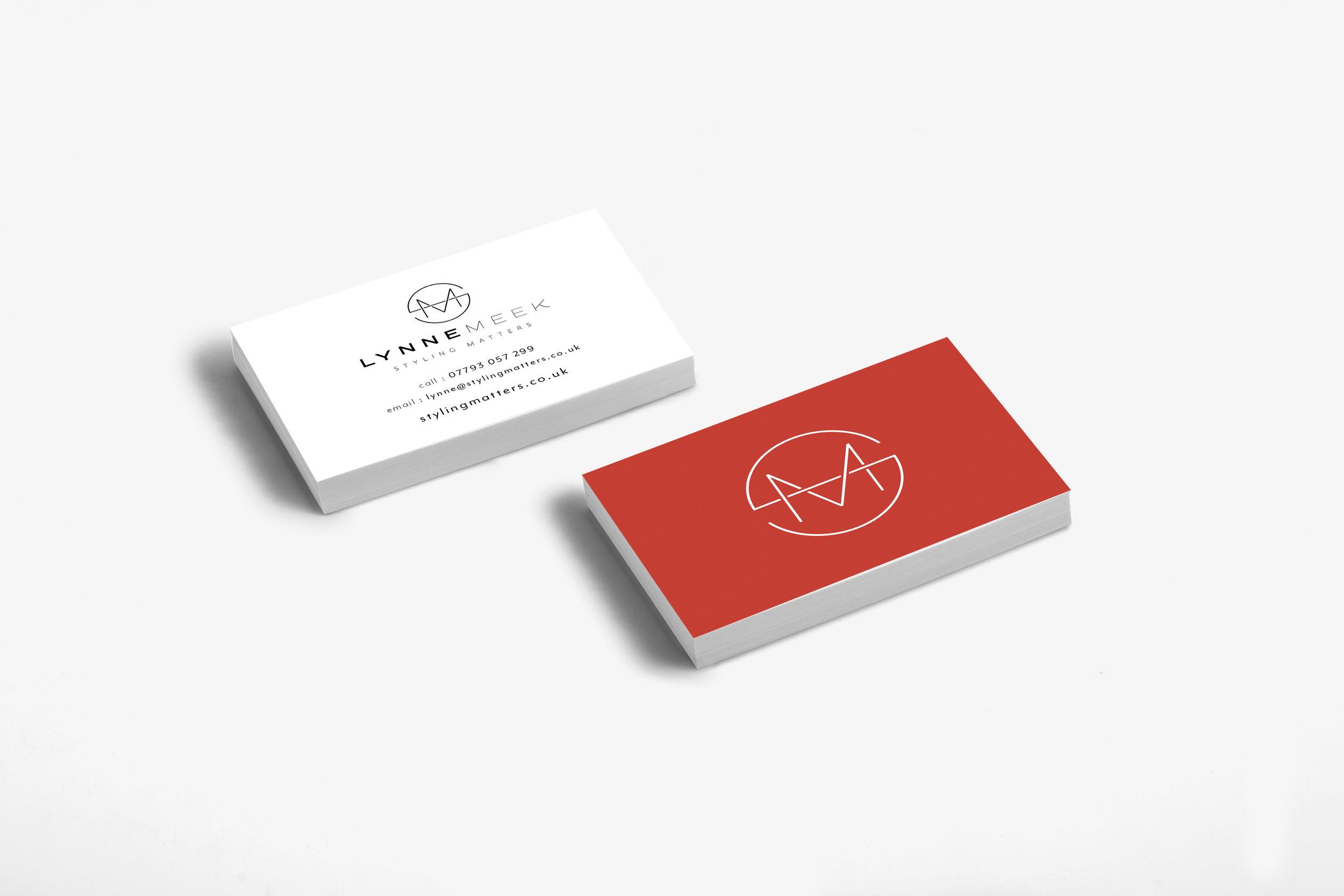 Business stationery design for Lynne Meek, Styling Matters, Tunbridge Wells business