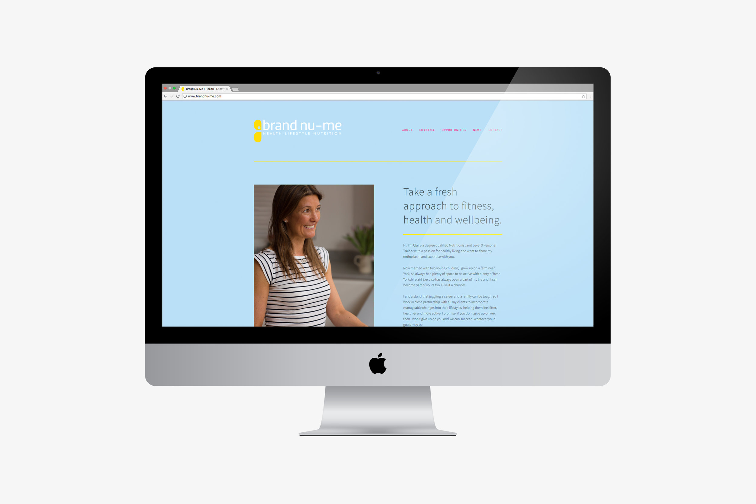 Website design company for Brand Nu-Me, based in Tunbridge Wells, Kent
