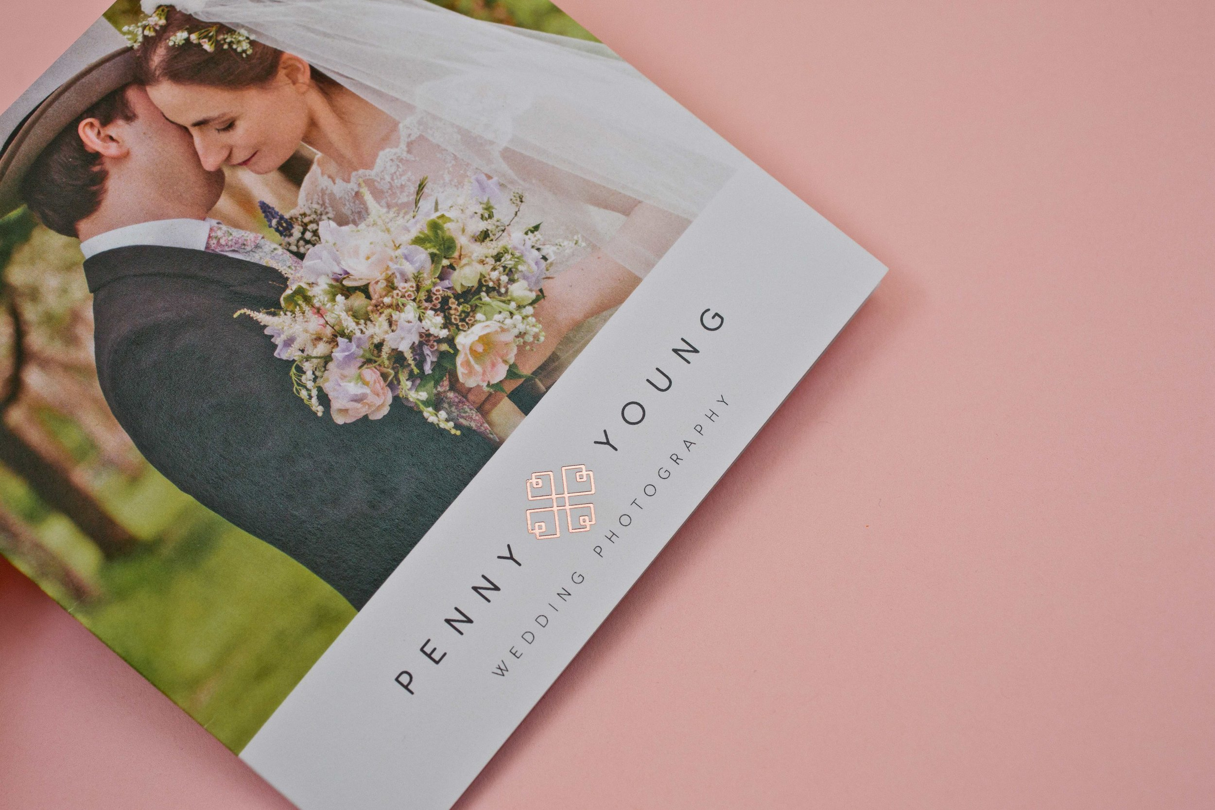 Digital print management agency for Penny Young Photography, Tonbridge, Kent, using special foil finish