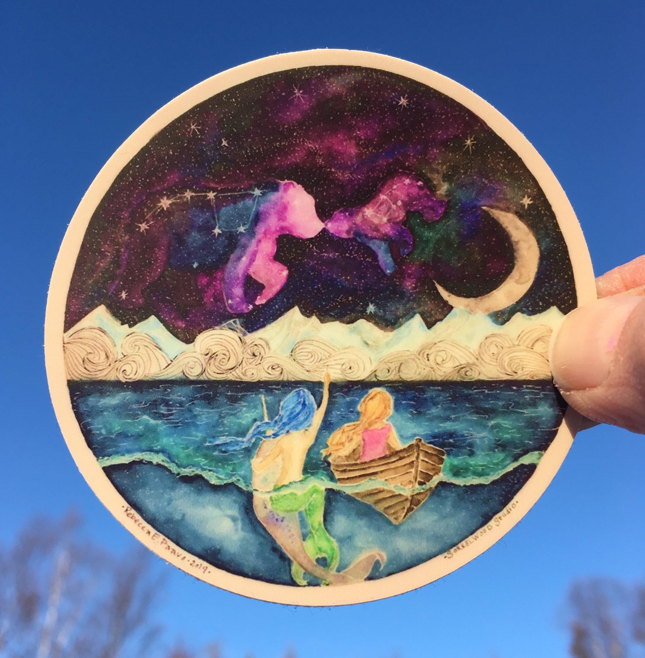 """Mermaid Stargazing 3"""" bright"""
