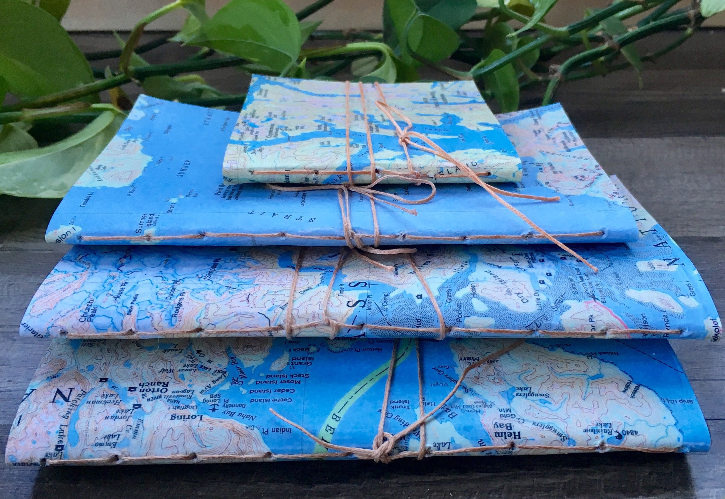 Recycled Alaska Map Journals