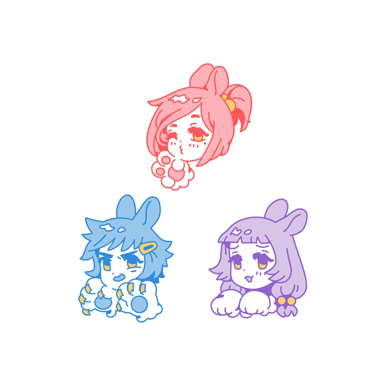 Bunny Ball (Original)  Dyed Soft Enamel