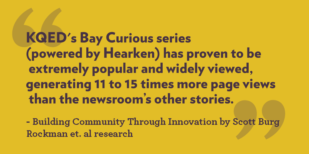 Read  Rockman et. al's research findings  on KQED's Bay Curious.