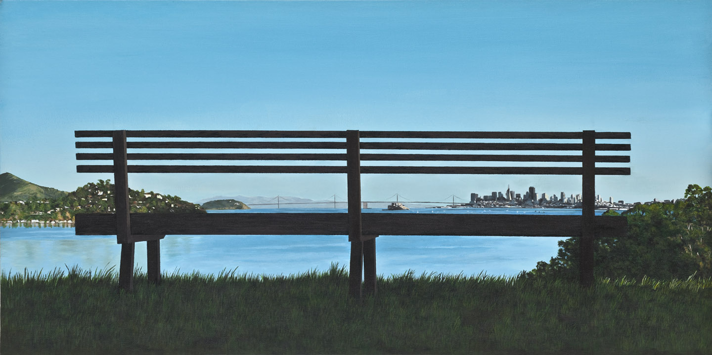 Bench on Strawberry Point Overlook - 2nd Place - 2016 Marin County FairThird Place - 2016 Juried Exhibition - Falkirk Cultural Center