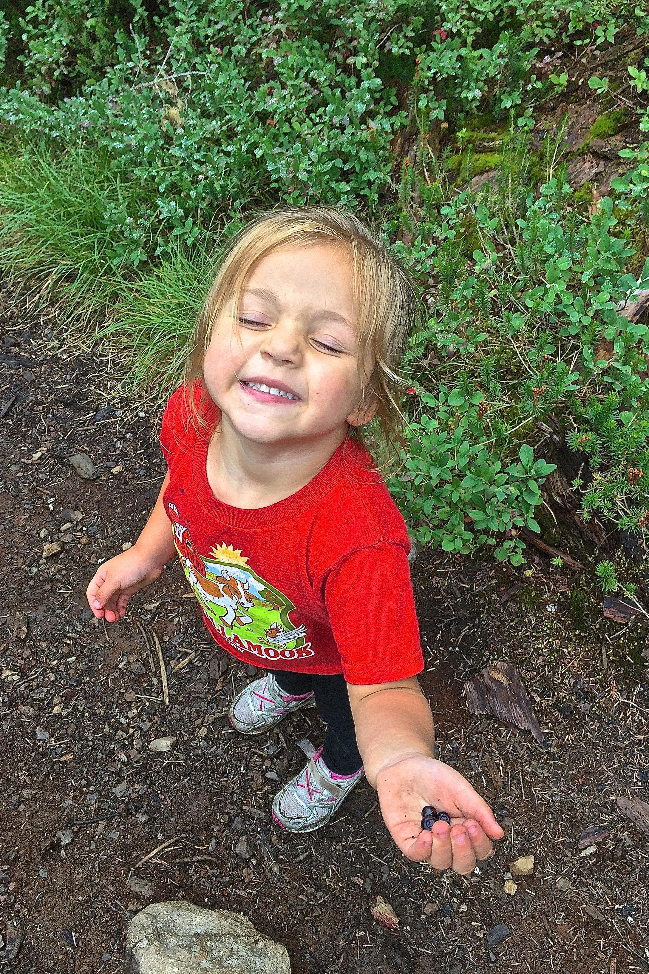 Reggie eating berries on the trail!!
