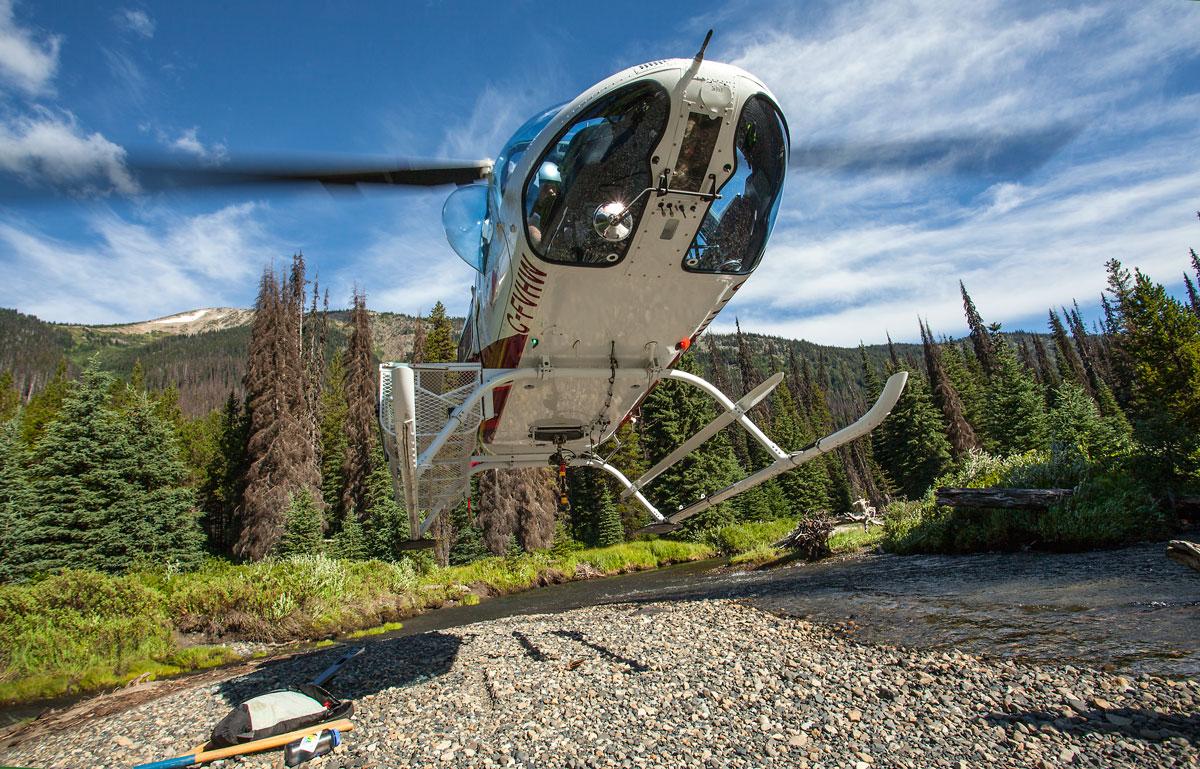 Our landing spot in Canada near the terminus looking northwest. Photo by Loren Schmidt