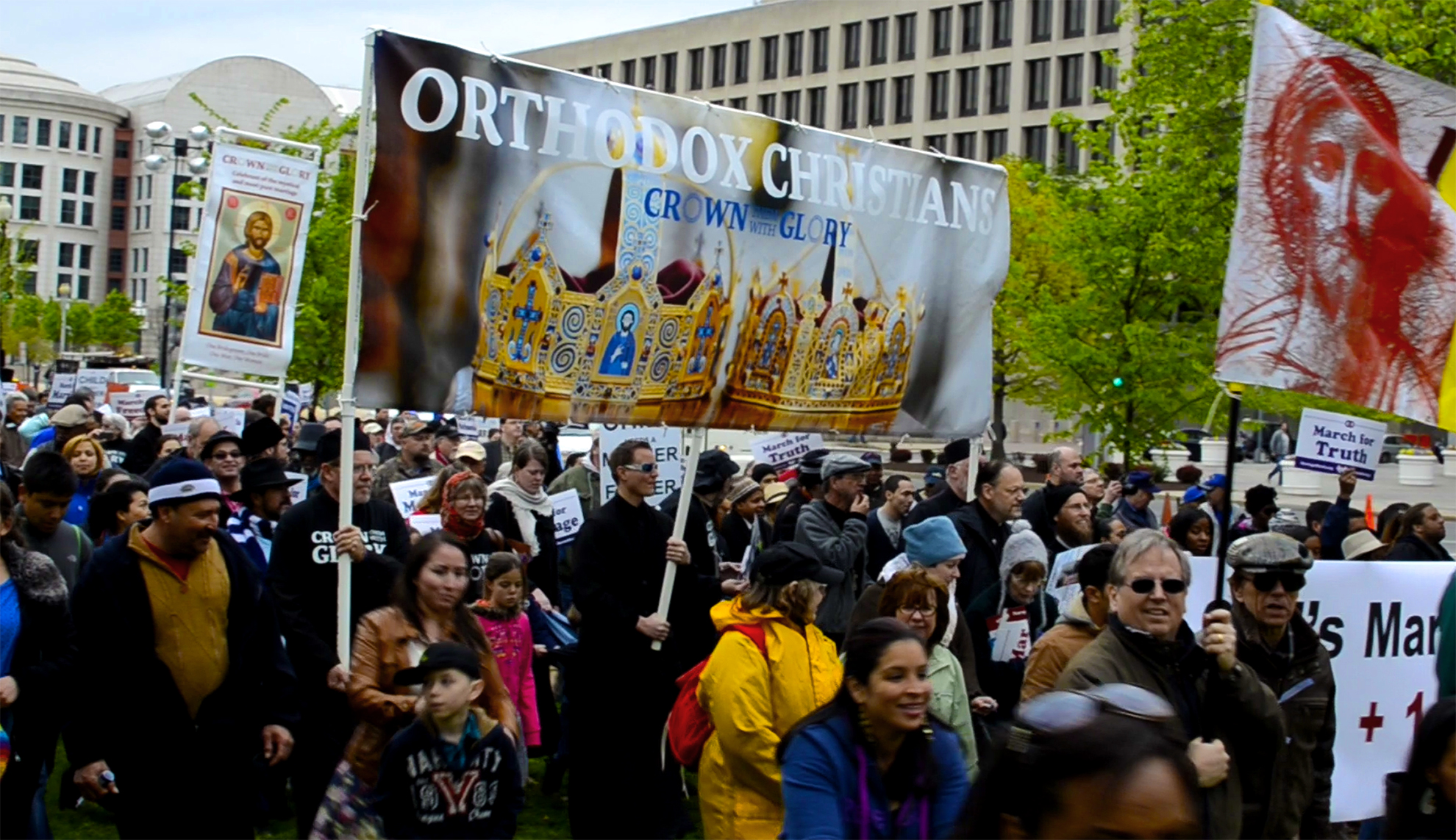 Orthodox Faithful join thousands in March Processional at the 2015 March for Marriage.