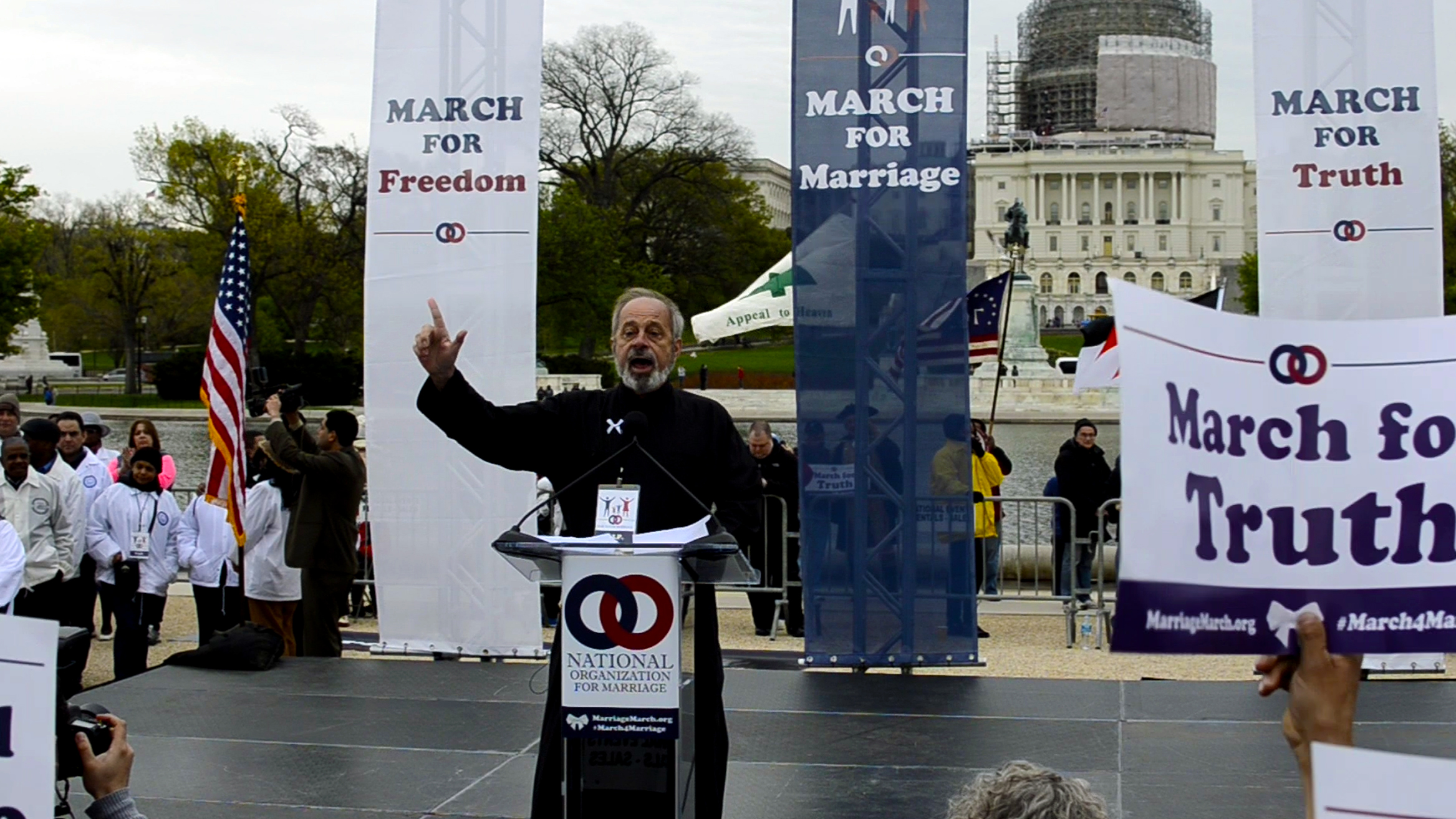 Rev. Fr. Johannes (Hans) Jacobse offers the Orthodox Church's testimony to the truth of one man/one woman marriage as a featured speaker at the March for Marriage Rally on  April 25th, 2015.