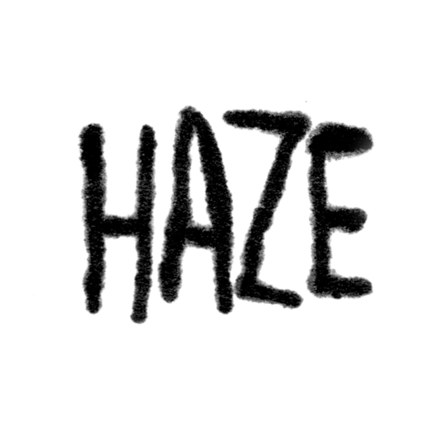 Logo for hardcore band, HAZE