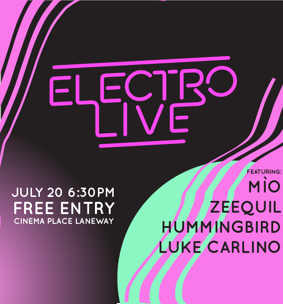 Promotional materials and identity design for Electro Live