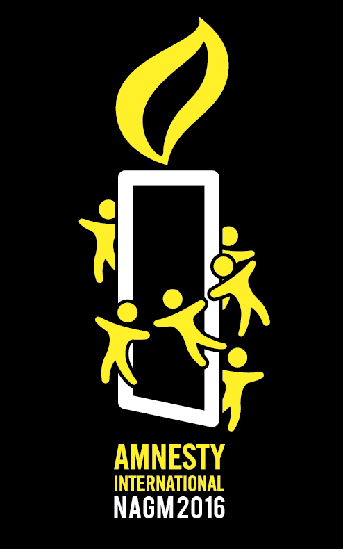 T-shirt graphic designed for Amnesty International 2016 annual general meeting held in Adelaide.