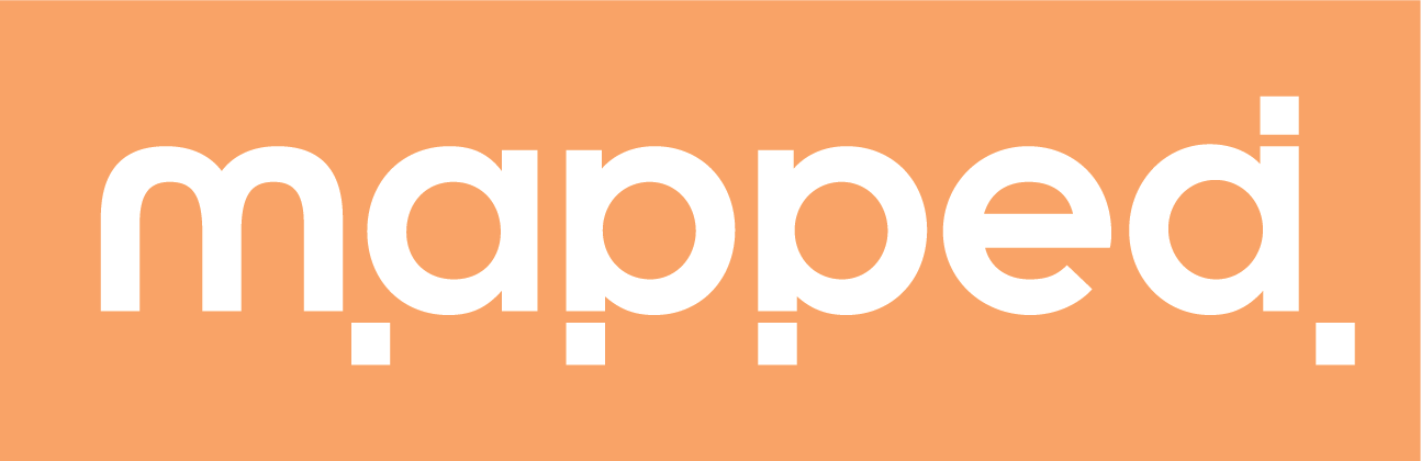 Logo and identity design for Mapped designs