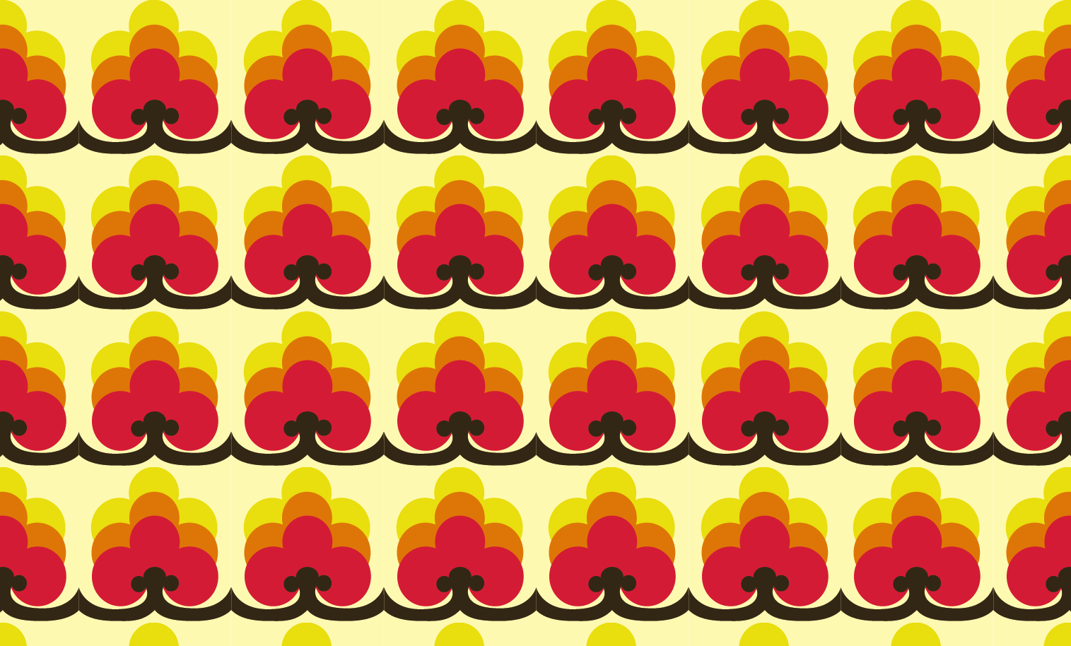 Repeating pattern designed for clothing brand, Closet Mod