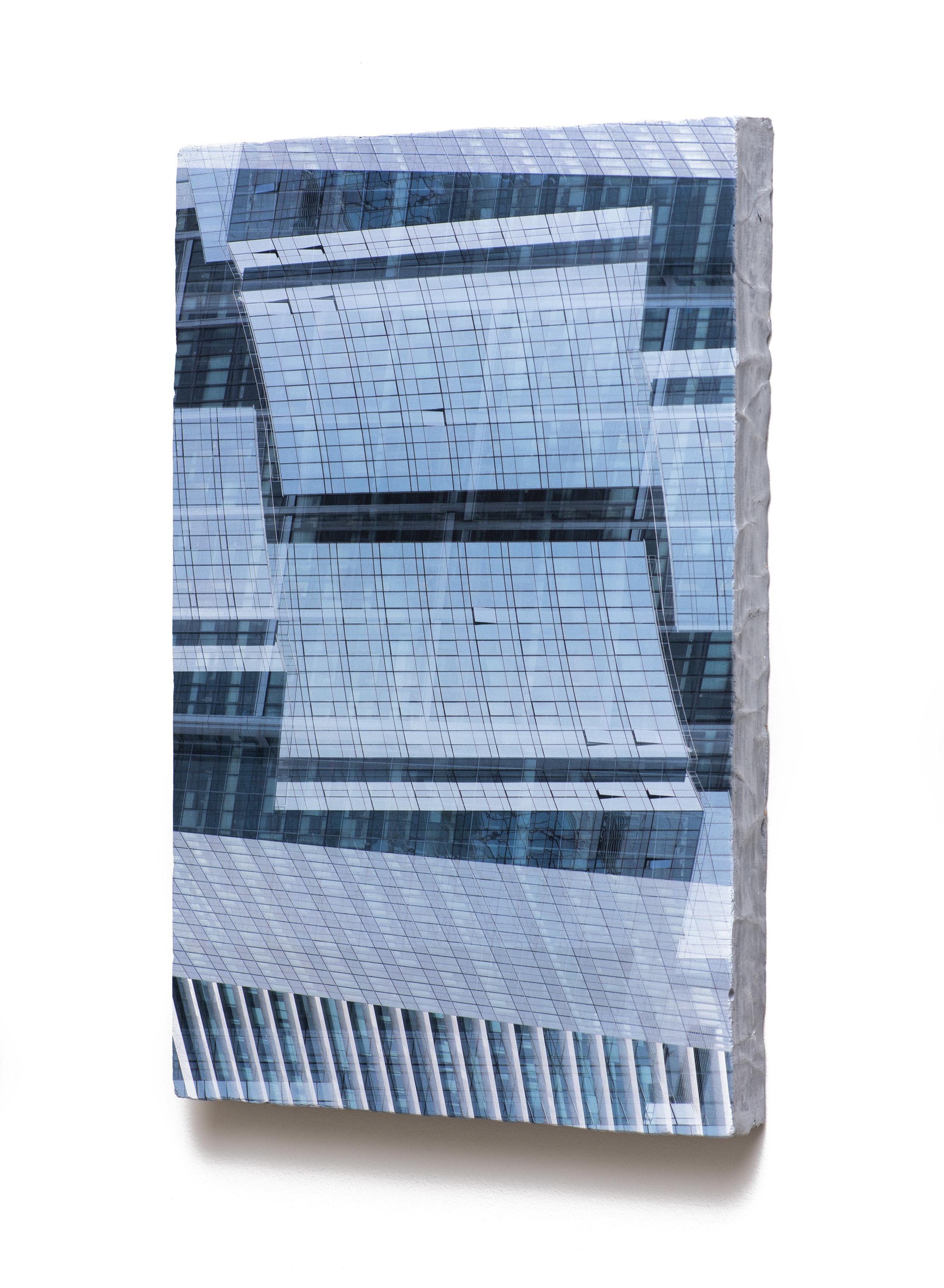 Counterform Planes, 2017 (oblique) UV ink on concrete 18 1/2 × 12 1/2 × 1 1/2 in Unique