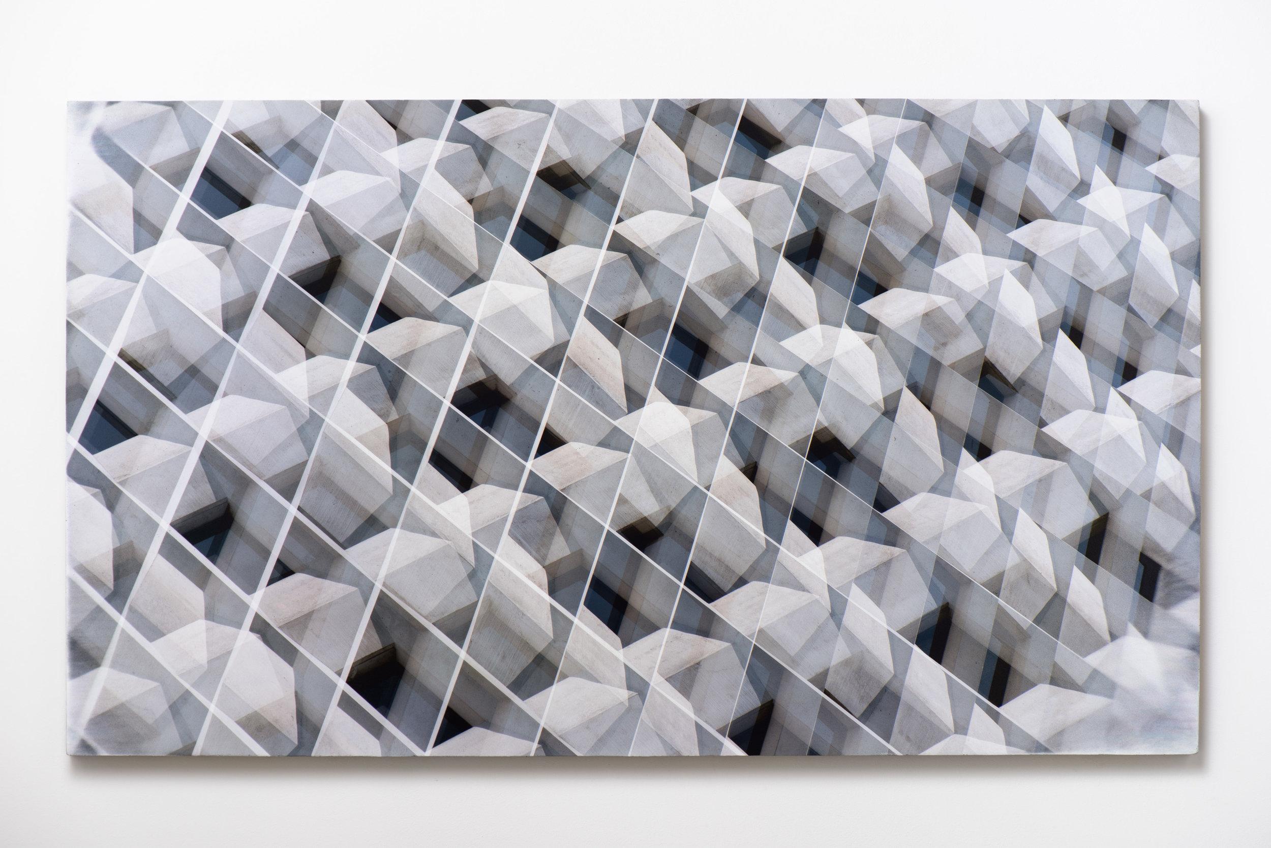 Shape Gradient , 2017 UV ink on concrete 36 1/2 × 63 1/2 Inches Unique