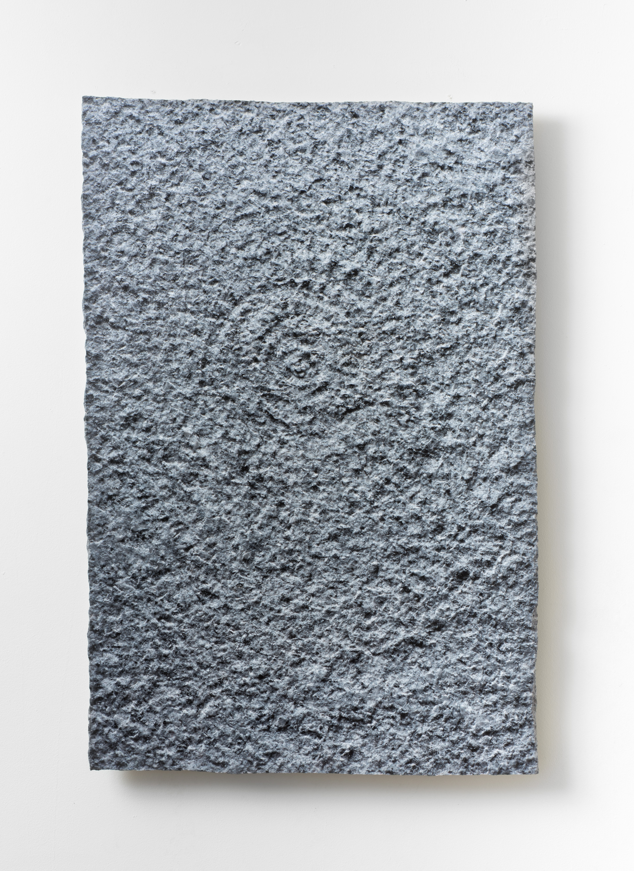 Granite Spiral I,  2019  UV ink on granite with concrete cleats 36x24 Inches
