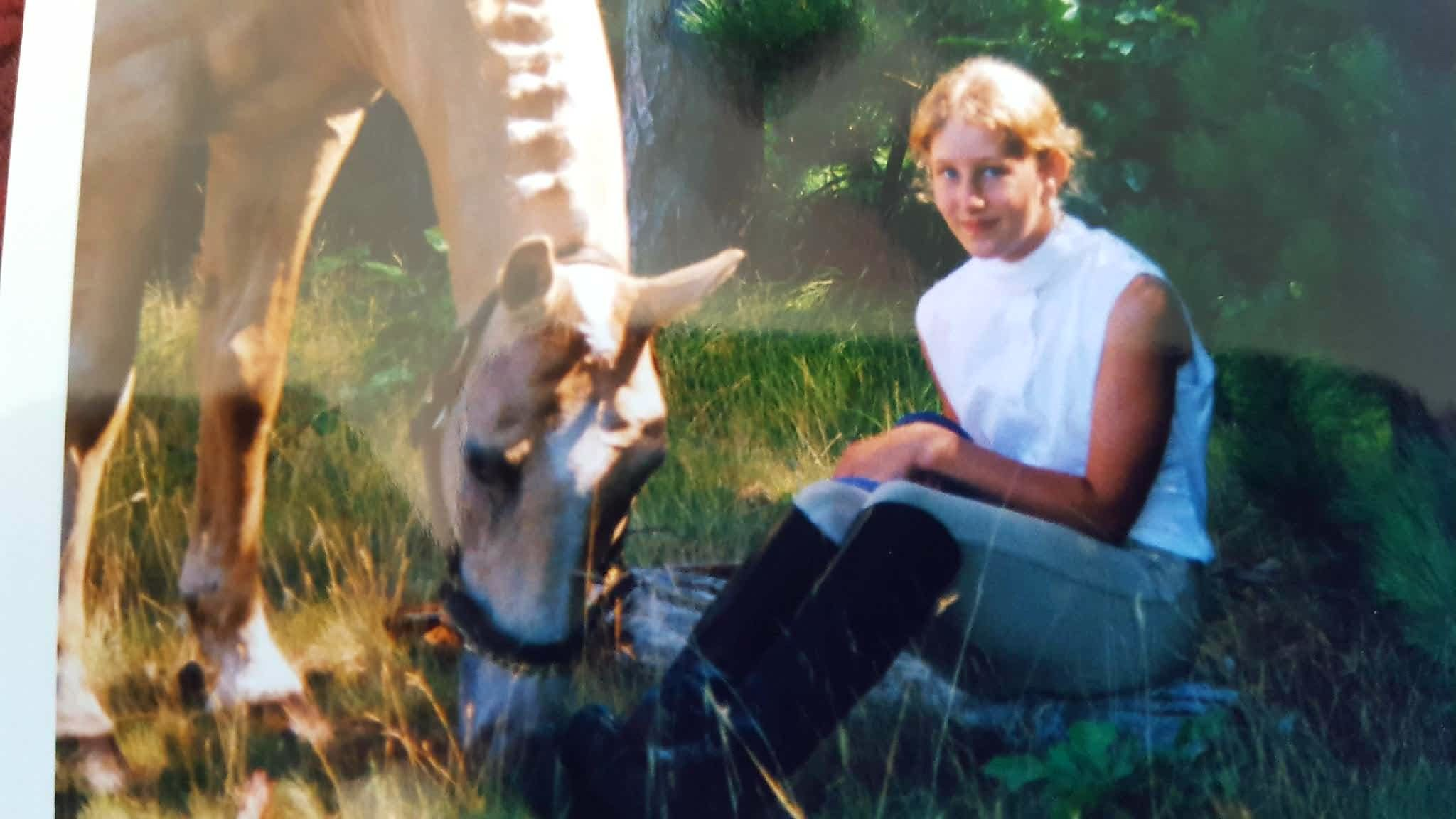 Me as a young girl with my favorite horse, Sunny. Once a horse girl. always a horse girl!