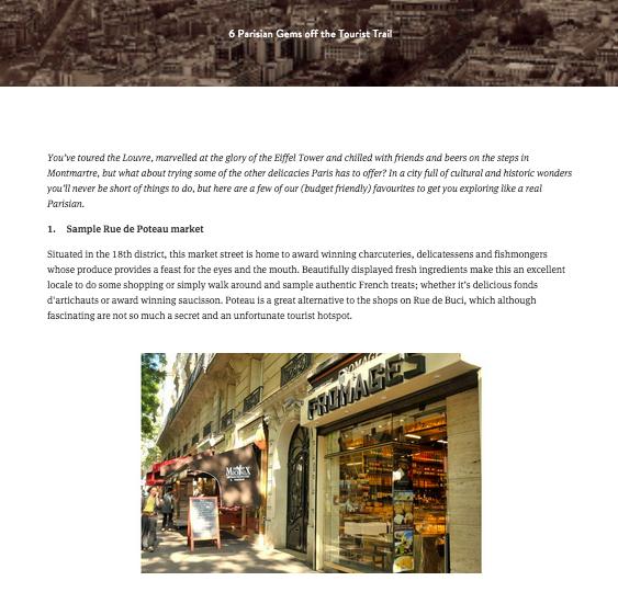 Blog Post: Travel in Paris