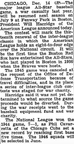 New York Times: December 15, 1945