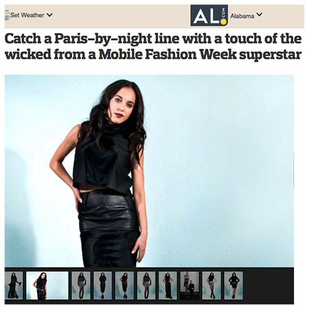 "AL.COM for the Mobile Press Register  ""We went with the dark side and a bohemian gypsy feel that was inspired by Paris in the night. """