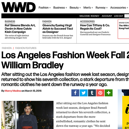 "WWD | MARCH 2016  ""But the collection's minimal vibe should play well online, and strike a chord with women who e-shop for functional, easy-fitting pieces."""