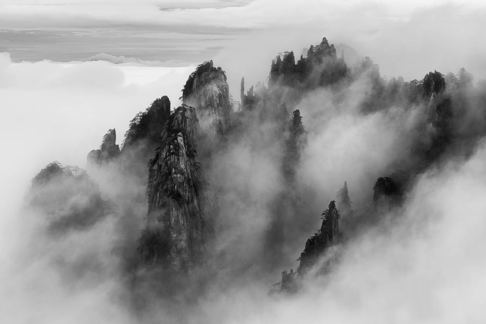 Chinese Whispers - Views from the Huangshan mountains of China.