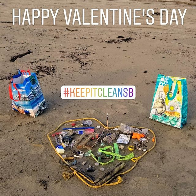 Because Mother Earth deserved a little love on Valentines Day!! As well as every other day! 💓🌍🌊 It's up to us to keep our oceans and planet clean by taking action in every way possible. #Refuse #Reduce #Reuse & #Recycle #CleanOURSeas