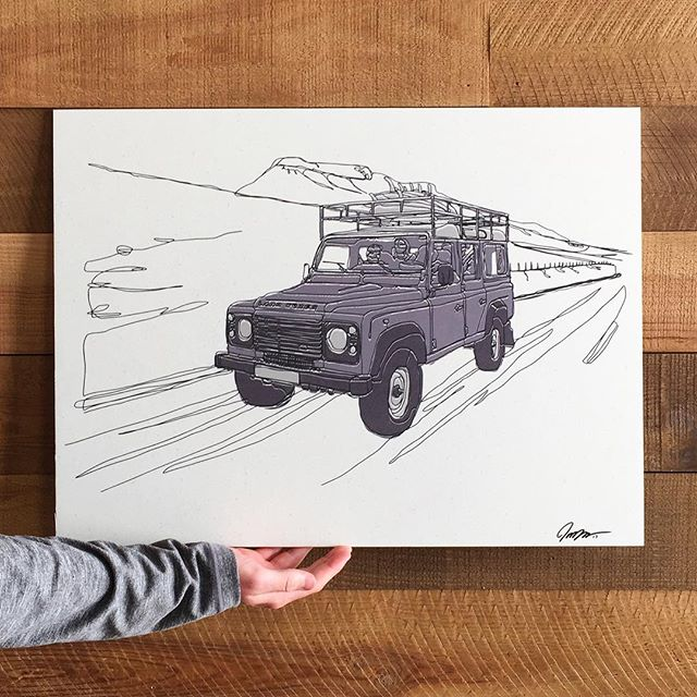 I have a few of these bad to the bone prints for sale! Get yours today! $50 - 18x24 and ready for mounting! DM or comment below for details! #landroverdefender #defender #landrover