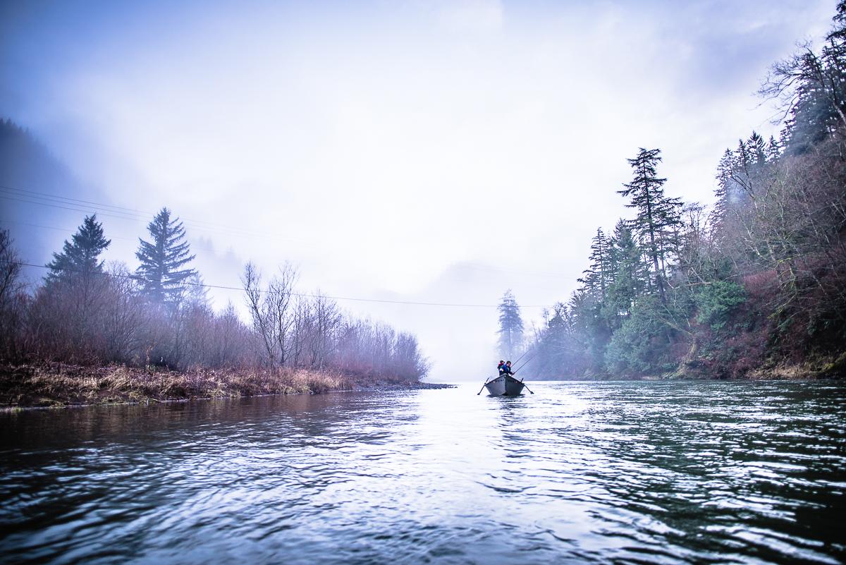 Winter steelheading, Wilson River