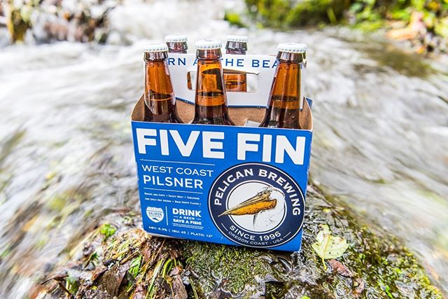 "Now is a great time to head to the coast for some storm watching from the deck of the Pelican Brewery! Sales of Pelican Brewing Company's Five Fin West Coast Pilsner benefit the Salmon SuperHwy. ""Drink a Beer, Save a Fish"" Yes please! 📷  @schnitzerphoto #pelicanbrewery #westcoast #beachlife #haystackrock"