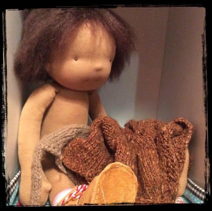 Dora after her hair cut , little jenny wren dolls winter collection