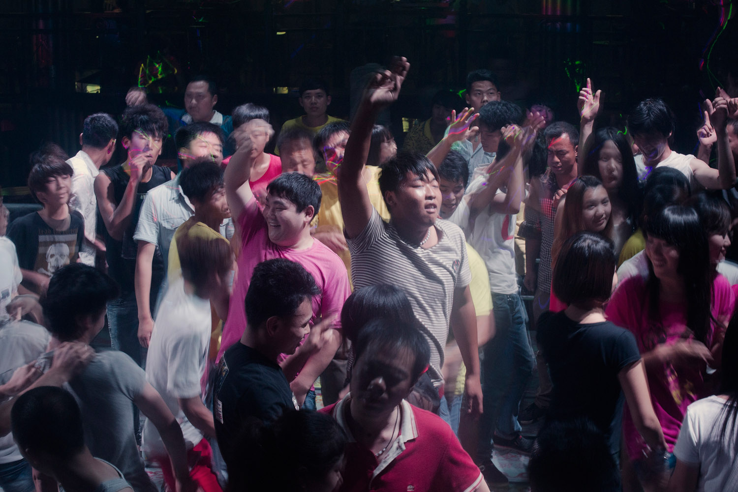 Foxconn workers at a club