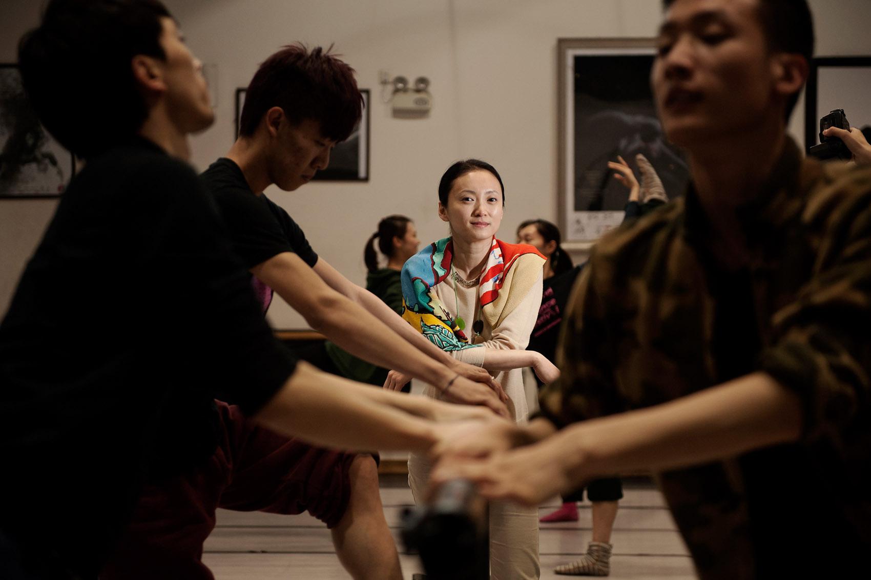 Wang YuanYuan, one China's leading modern dance choregrapher.