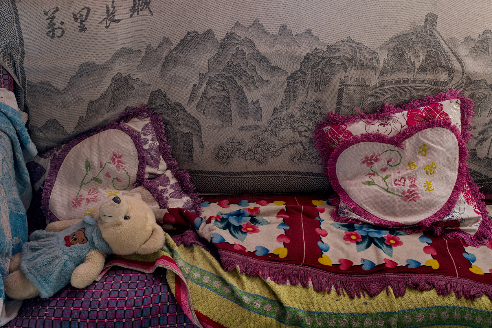 Couch in the home of Niu Wenxuan.