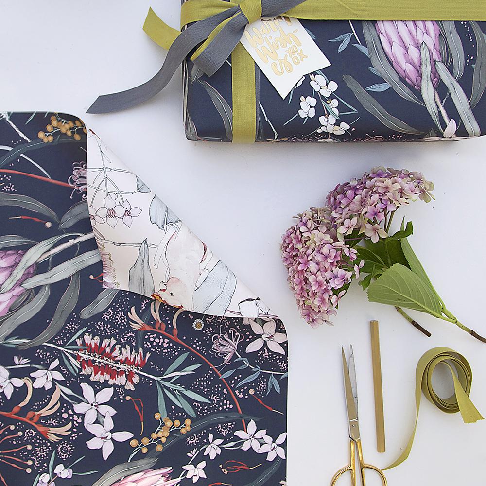 Bespoke Letterpress Doublesided Gift Wrap
