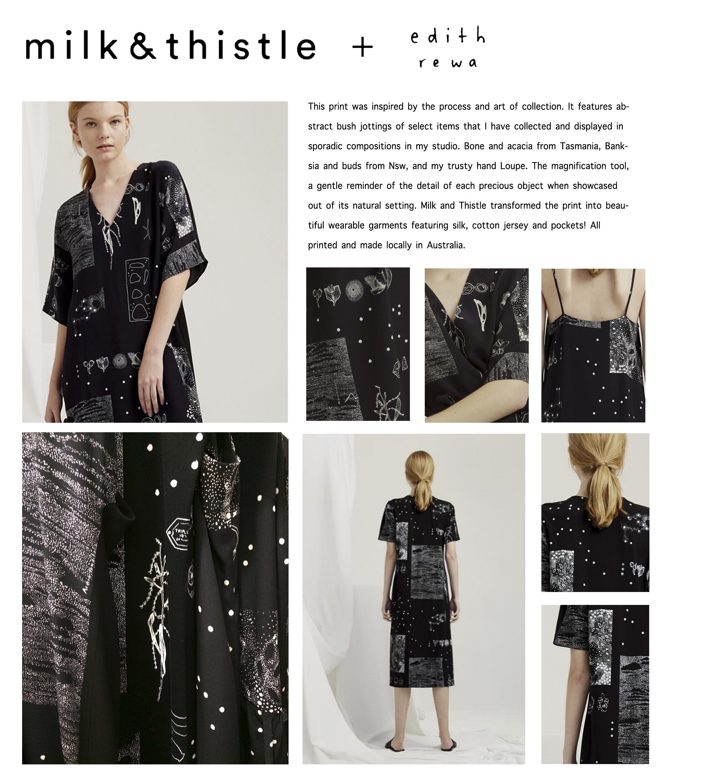 Milk and Thistle x Edith Rewa