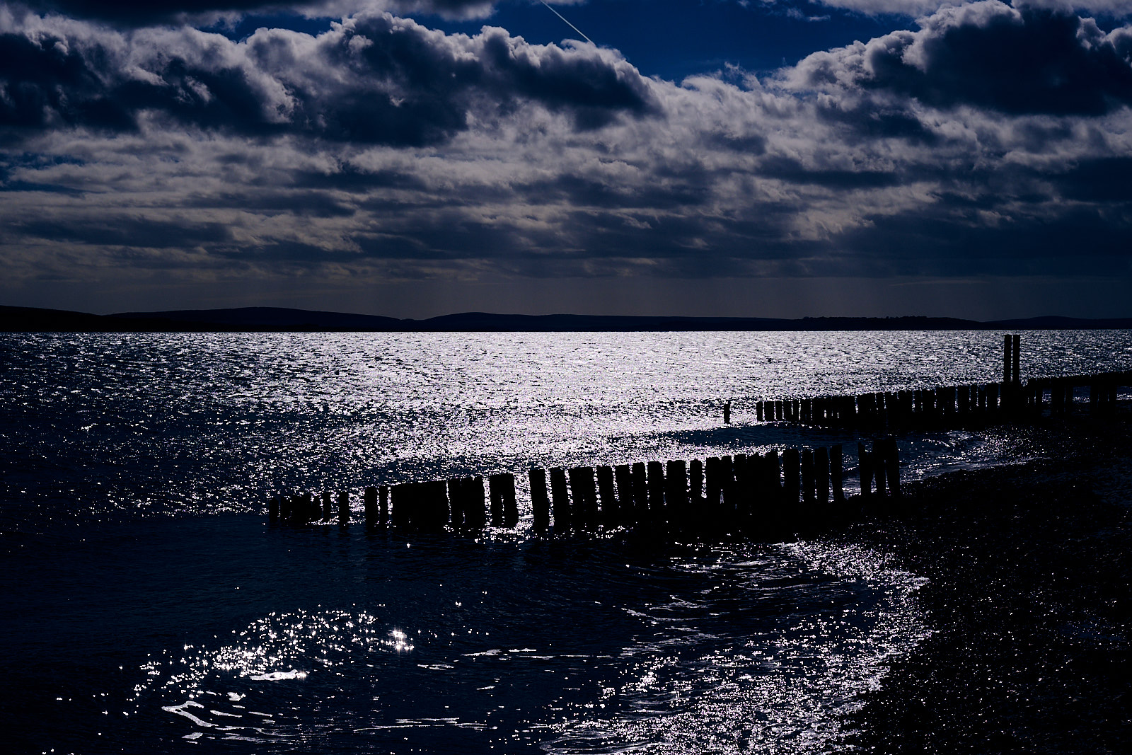 The Isle oof Wight from Lepe Beach.