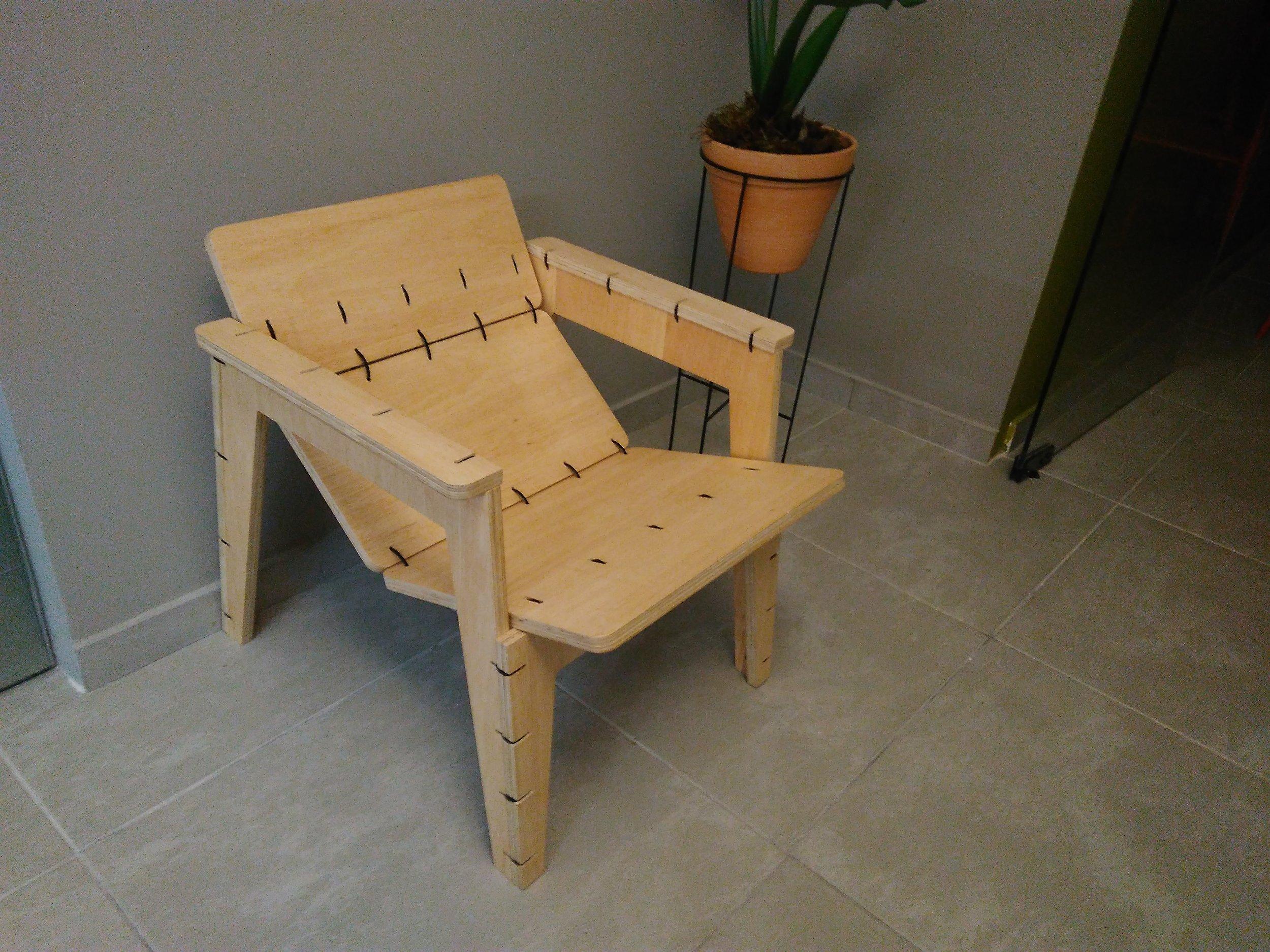 Zip Tie Chair - Projeto de Will Holman