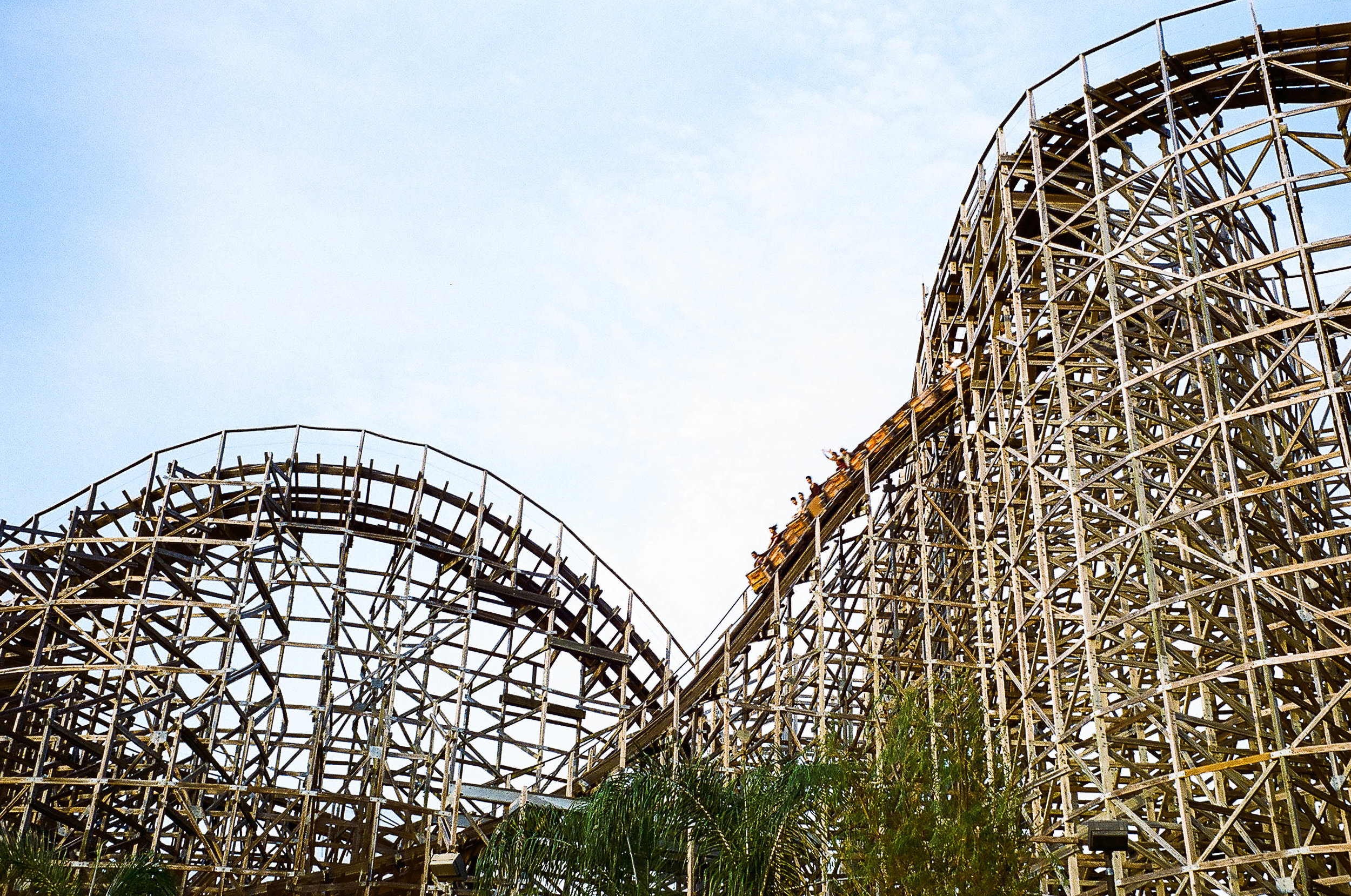 It was National Roller Coaster Day while we were here, so we got to ride this wooden one for half price!