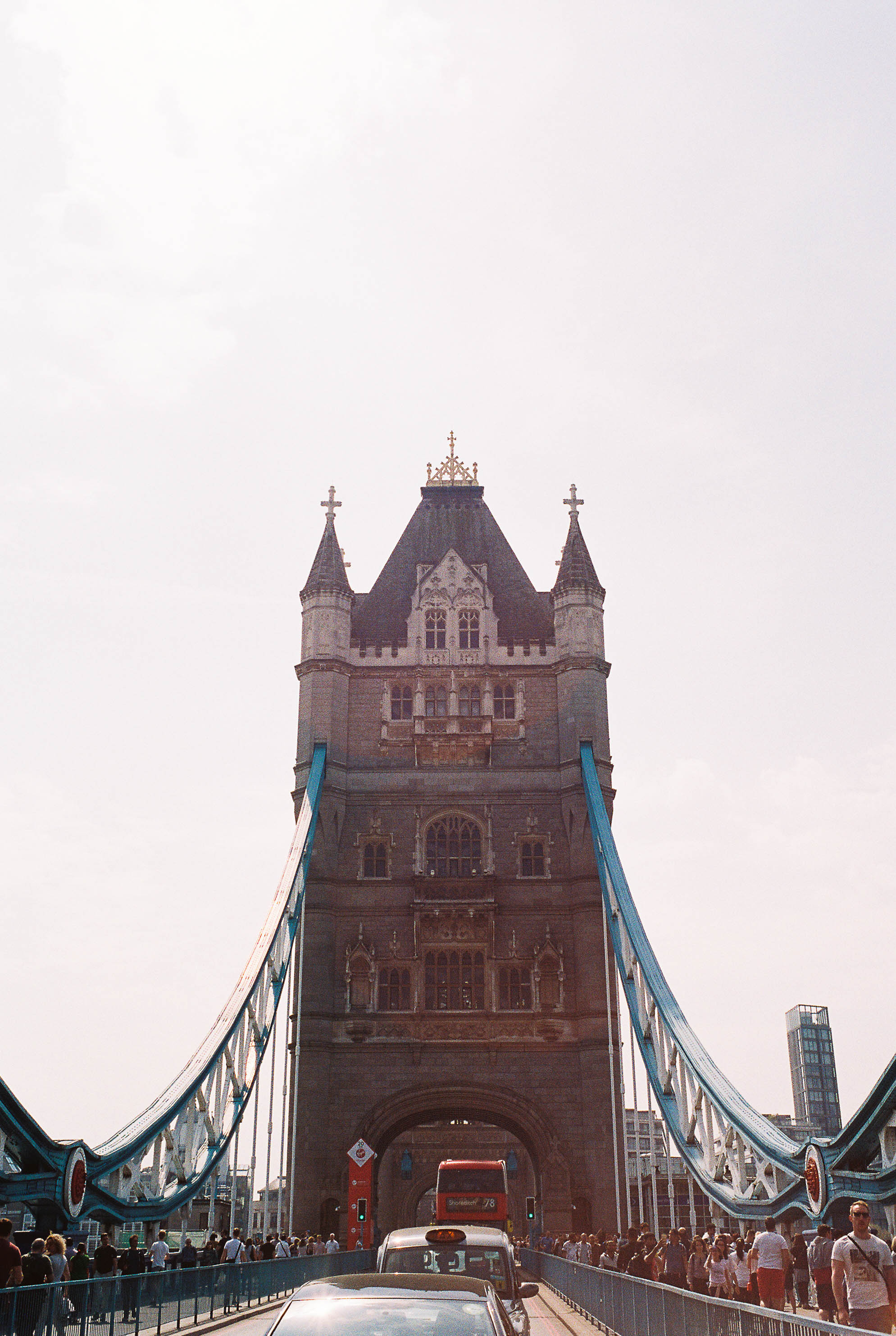Tower Bridge. Yes, I jumped out in front of traffic. No, my husband wasn't surprised.