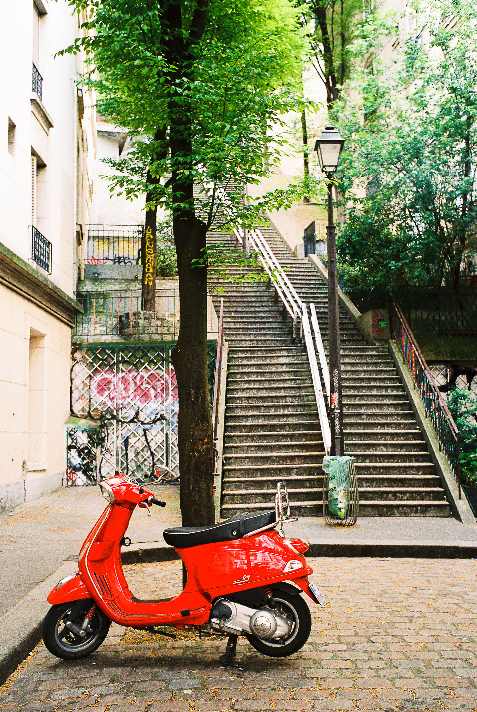 When I live in Europe, I will have a candy apple red moped.
